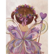 GreenBox Art 14 x 18 Brunette Little Fairy Princess Canvas Wall Art