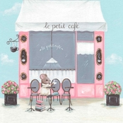 Greenbox Art 14 x 14 Little Petite Cafe Canvas Wall Art