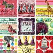 Greenbox Art 30 x 30 Sweet Sayings for Girls Canvas Wall Art