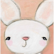 GreenBox Art 10 x 10 Hello Bunny Canvas Wall Art