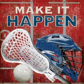 GreenBox Art Make It Happen Lacrosse Canvas Wall Art