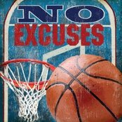 GreenBox Art 14 x 14 No Excuses, Basketball Canvas Wall Art