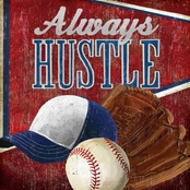 GreenBox Art 14 x 14 Always Hustle Baseball Canvas Wall Art