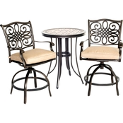 Hanover Monaco High Dining Bistro 3 pc. Set