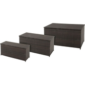 Hanover Outdoor 3-in-1 Deck Box Set for Outdoor Storage