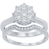 Disney Enchanted 14K White Gold 1/2 CTW Diamond Snow White Bridal Set