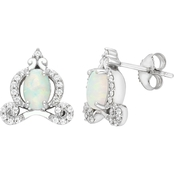 Disney Enchanted Sterling Silver Cinderella Carriage Earrings