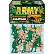 JA-RU Army Command Toy Soldiers 25 pk.
