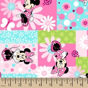 Disney Minnie Mouse Patch Fabric
