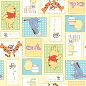Disney Pooh Patchwork Fabric