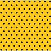 Springs Creative Black Polka Dots on Yellow Fabric