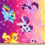 My Little Pony Ombre Fleece Fabric