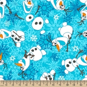 Disney Frozen Olaf Fleece Fabric