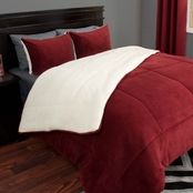 Lavish Home Sherpa Fleece Comforter Set