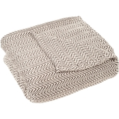 Lavish Home Chevron 100% Egyptian Cotton Blanket