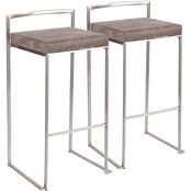 LumiSource Fuji Bar Stool 2 Pk.