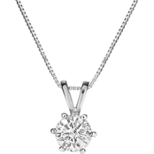 14K White Gold 1/4 ct. Diamond Solitaire Pendant