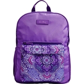 Vera Bradley Large Colorblock Backpack, Lilac Tapestry
