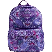 Vera Bradley Lighten Up Grande Laptop Backpack, Lilac Tapestry