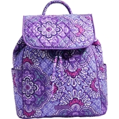 Vera Bradley Drawstring Backpack, Lilac Tapestry