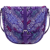 Vera Bradley Slim Saddle Bag, Lilac Tapestry