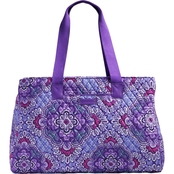 Vera Bradley Triple Compartment Travel Bag, Lilac Tapestry