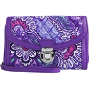 Vera Bradley Ultimate Wristlet, Lilac Tapestry with Purple Trim