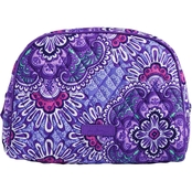Vera Bradley Large Zip Cosmetic Bag, Lilac Tapestry