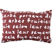 Vintage House By Park B. Smith French Script Tapestry Decorative Pillow