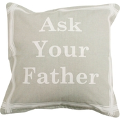 Vintage House By Park B. Smith Ask Your Father Printed Decorative Pillow