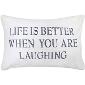 Vintage House By Park B. Smith Life Is Better Printed Decorative Pillow