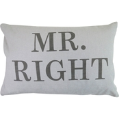 Vintage House By Park B. Smith Mr. Right Printed Decorative Pillow
