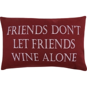 Wine Alone Printed Pillow