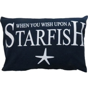 Vintage House By Park B. Smith Wish Upon A Starfish Printed Decorative Pillow