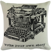 Vintage House By Park B. Smith Write Your Own Printed Decorative Pillow