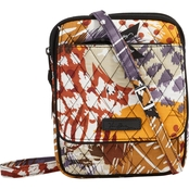 Vera Bradley Mini Hipster, Painted Feathers