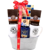 Alder Creek Gift Baskets Coffee Bean and Tea Leaf Gift Basket