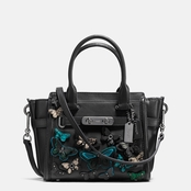 COACH Butterfly Applique Swagger 27 in. Carryall in Glovetanned Leather