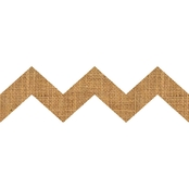 Springs Creative Burlap Laminated Natural Chevron Shapes