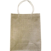 Springs Creative Burlap Medium Natural Gift Bags 2 pk.