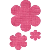Springs Creative Burlap Laminated Pink Flower Shapes
