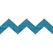 Springs Creative Burlap Laminated Blue Chevron Shapes