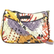 Vera Bradley Little Crossbody, Painted Feathers