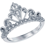Disney Enchanted Sterling Silver 1/10 CTW Diamond Cinderella Ring
