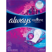 Always Radiant Regular Wrapped Unscented Pantiliners 48 ct.