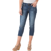 YMI Jeans Juniors Slim-Hers Rip and Tear Flood Jeans