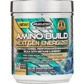Muscletech Amino Build Next Gen Energized Blue Raspberry Powder, 30 Servings
