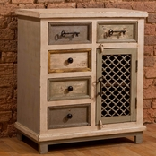 Hillsdale LaRose 5 Drawer Cabinet with Wire Front Door
