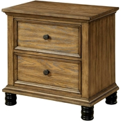 Furniture of America McVille 2 Drawer Nightstand