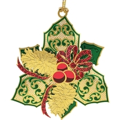 ChemArt Elegant Holly Collectible Ornament